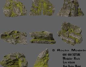3D asset rocks set 6