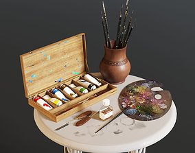 Art set 3D model