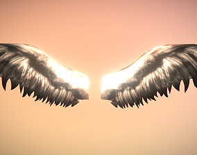 3D asset Ultra Low Poly Animated Angel Wings