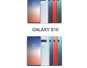 3D Galaxy S10 and S10 Plus All Color