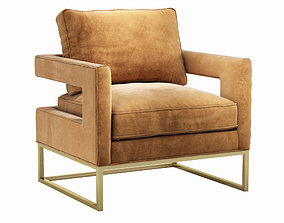interior 3D Avery Cognac Velvet Chair