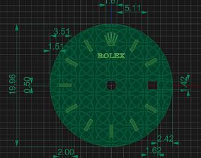 Rolex clock face 3D print model