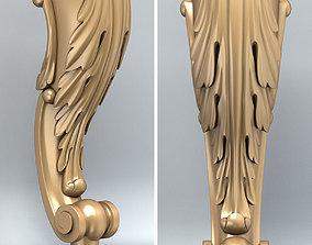 3D Furniture leg 002