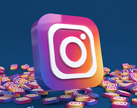 3D asset Social media - Instagram