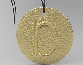 Alphabet Latin D jewel 3D printable model