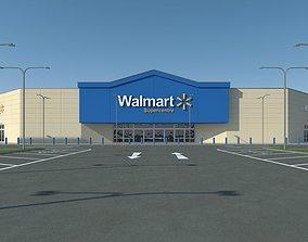 Walmart with Parkinglot 3D