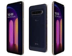 LG V60 ThinQ Classy Blue 3D