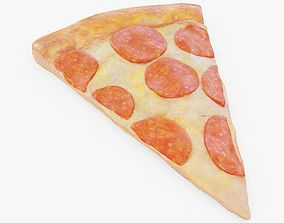 3D model game-ready Pizza Slice Pepperoni