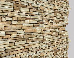 3D model Masonry Stone Wall