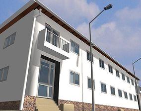 3D model Hispanic village window
