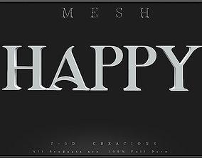HAPPY - Q 3D model