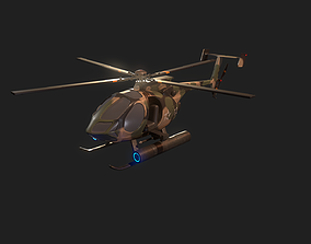 Military Helicopter 3D model PBR