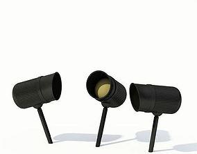 3D Black Metal Garden Lamp