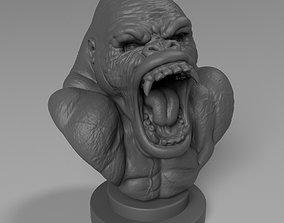 3D print model gorilla bust