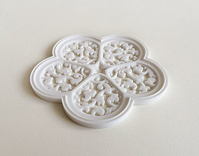 3D printable model Cinquefoil Coaster