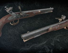 3D asset Harpers Ferry Flintlock Pistol