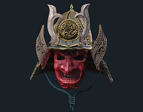 mask Samurai Mask 3D