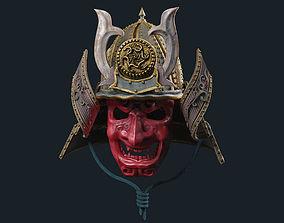 mask Samurai Mask 3D