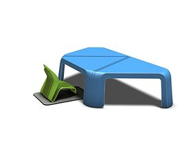Kindergarden desk and chair 3D printable model