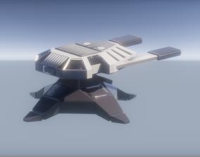 3D model Turret sci fi 2