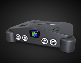 Nintendo 64 Console 3D model