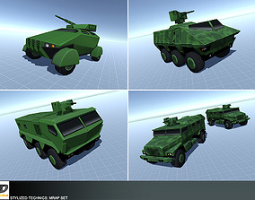 3D asset Stylized Technics - MRAP Set