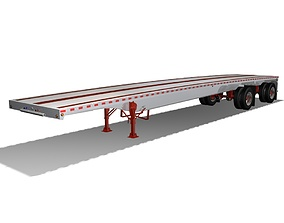 Aluminum Flatbed Trailer 3D model