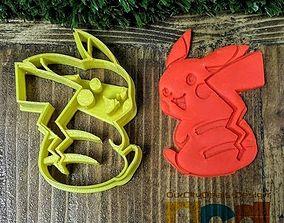 3D print model Pokemon Pikachu back cookie cutter