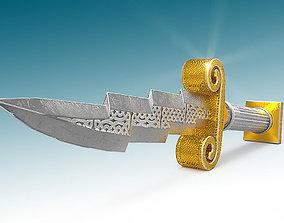 3D model Zeus Dagger Low-Poly