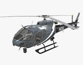 3D asset AS-350 Oklahoma City Police