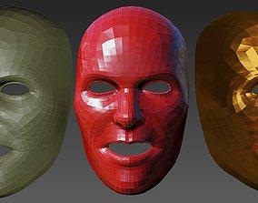 Male mask 3D model