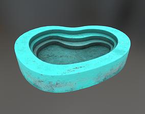 3D model VR / AR ready Concrete Swimming Pool