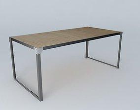 Dining Table Docks Maisons du monde 3D