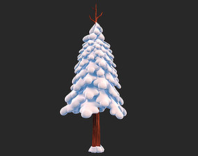 3D Snow Pine Tree