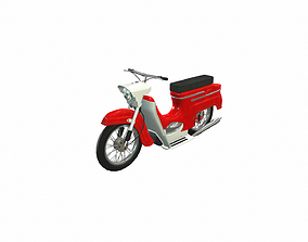 3D asset VR / AR ready Motorcycle yawa 05