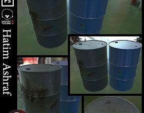 3D asset realtime Oil Barrel oil
