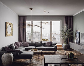 Paris Luxury Apartment 3D model