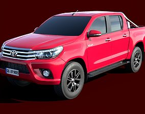 Toyota Hilux Double Cab 2016 lowpoly 3D asset