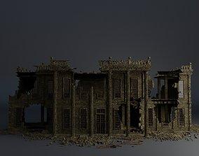 3D asset DESTROYED BUILDING CLASSICAL APOCALYPSE 3