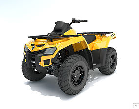 Quad BRP cam 800R Outlander 3D model