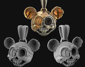 Mickey mouse head pendant 3D print model