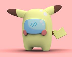 Pokemon Pikachu Among US yellow version - 3d print STL
