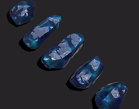 Medieval Style Blue Jewels 3D model