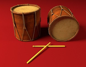 3D Ancient Drum