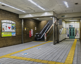 Osaka Subway station photogrammetry raw scan 3D