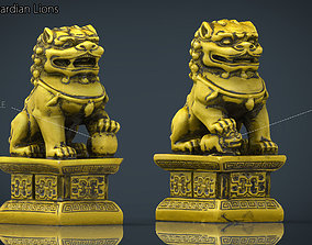 3D asset game-ready FU LIONS