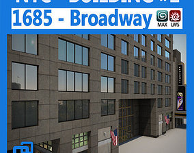 3D NYC Building 1685 Broadway Theater