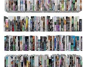 Books 150 pieces 1-7-2 3D asset