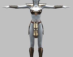 woman-warrior 3D model