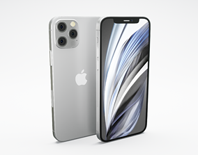 iPhone 12 Pro - Based on Real Dimension of Apple 3D 2